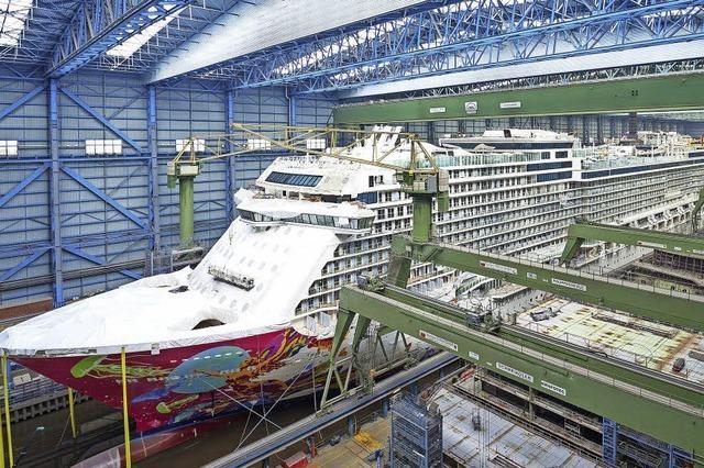 Bei der Meyer-Werft in Papenburg