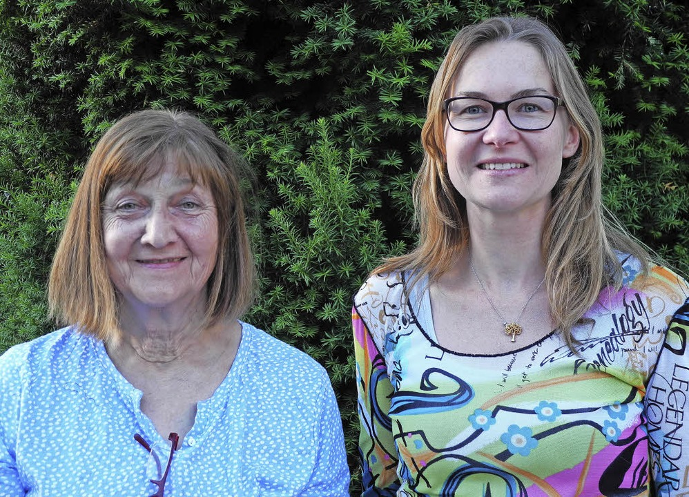 Ursula Zehner und Katharina Badot     Foto: Sigrid Umiger
