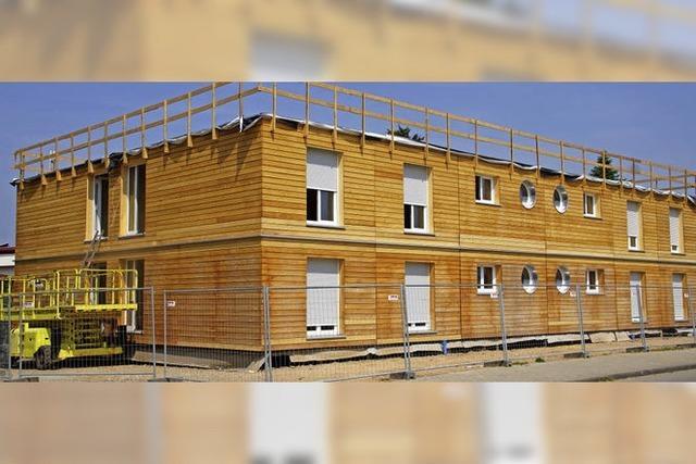 Haus mit Sozialwohnungen fast fertig