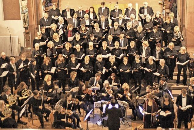 Es musizieren Mitglieder der Markgräfler Bezirkskantorei und Elisabeth Mertens, Vokalsolo in Müllheim