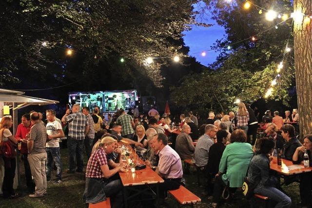 Kurpark in Flammen in Sulzburg