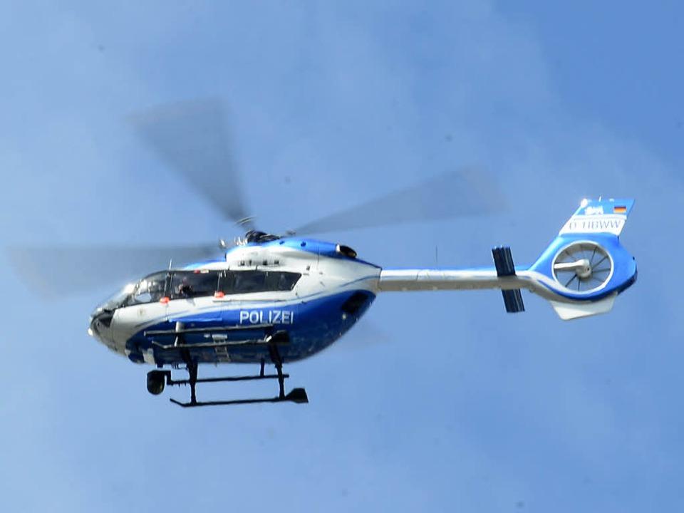 Warum flog ein Hubschrauber im Freibur...en nachts minutenlang an einer Stelle?    Foto: Ingo Schneider