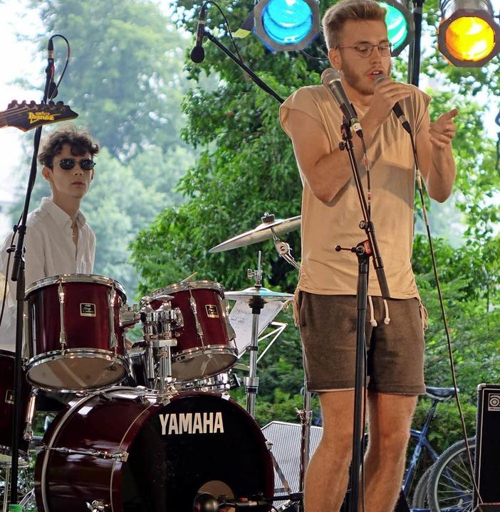 Junge Pop-Rock-Bands wie Gerome the Cat fanden auf dem  Inseli ihr Podium.  | Foto: Roswitha Frey