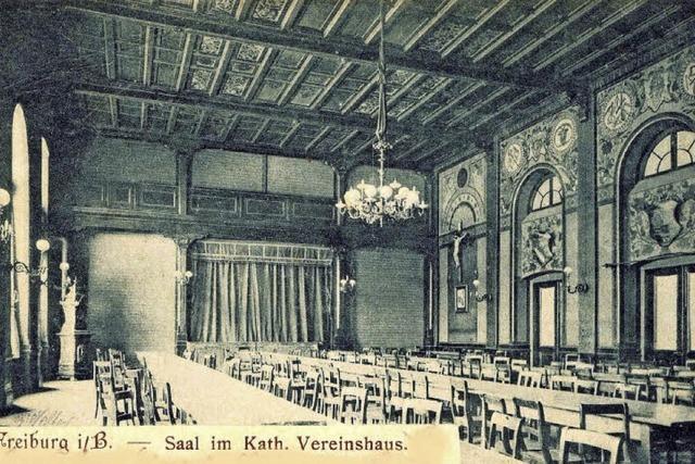 Der Kolpingsaal war jahrzehntelang ein Mittelpunkt des kulturellen Lebens in Freiburg