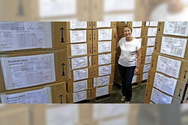 772 Kisten verlassen das Rathaus