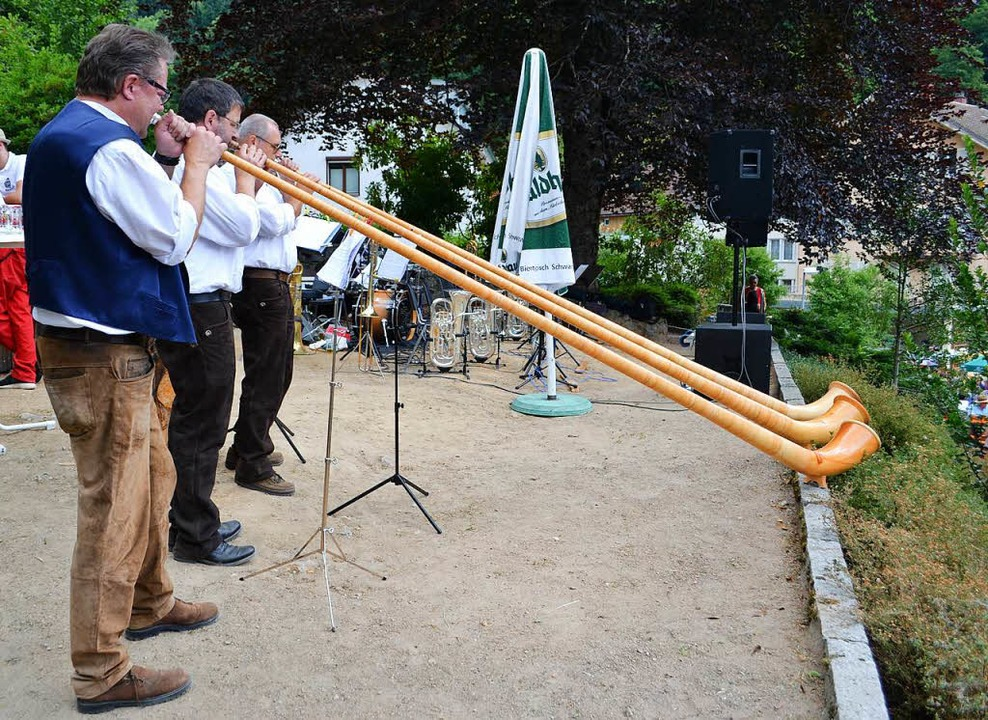 Alphornbläser beim Hafenkonzert  | Foto: Paul Berger
