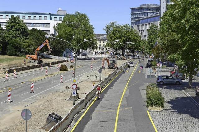 Baustelle Rotteckring: nun gibt es neue Sperrungen