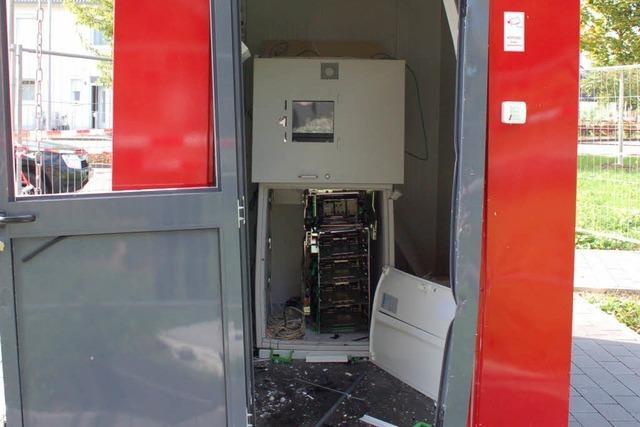 Zahl der gesprengten Geldautomaten steigt