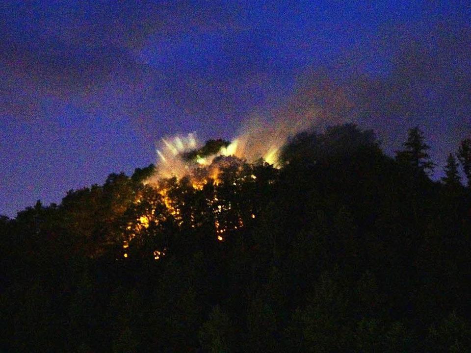 Nach Blitzschlag ist am Montagabend di...l am Harmersbach in Flammen gestanden.