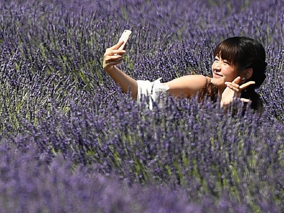 Selfie im Lavendelfeld  | Foto: AFP