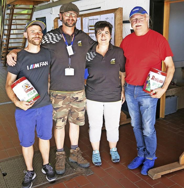 Siegerehrung beim AMC Bonndorf:  von l... (Treupreis für langjährige Teilnahme)    Foto: Erhard Morath