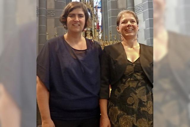 Zwei Musikerinnen servierten einen Ohrenschmaus