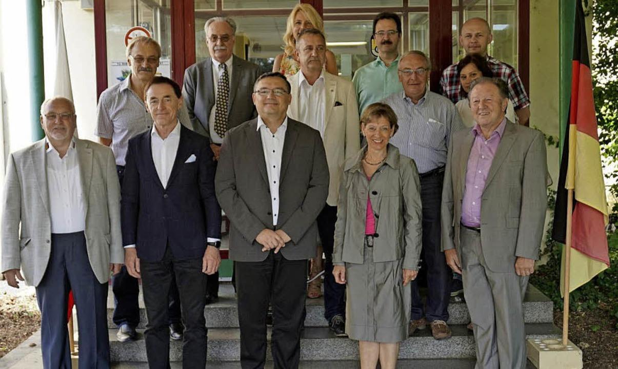Die Delegation aus  Lubliniec mit Land...arion Dammann und Fraktionsvertretern   | Foto: Landratsamt