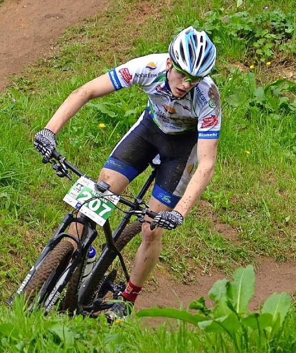 <BZ-FotoAnlauf>mountainbike:</BZ-FotoA...BS-Cup vorne dabei, nun schon Vierter.  | Foto: ZVG