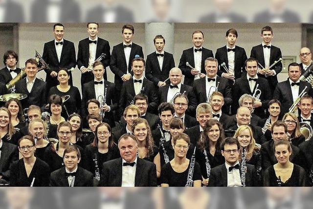 Das Freiburger Blasorchester mit seinem Programm