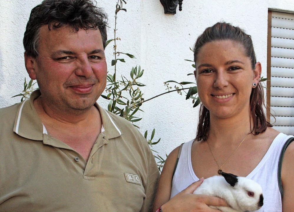 Daniela Wunderle sorgt für neue Impuls..., sehr zur Freude ihres Vaters Peter.   | Foto: Jörn Kerckhoff