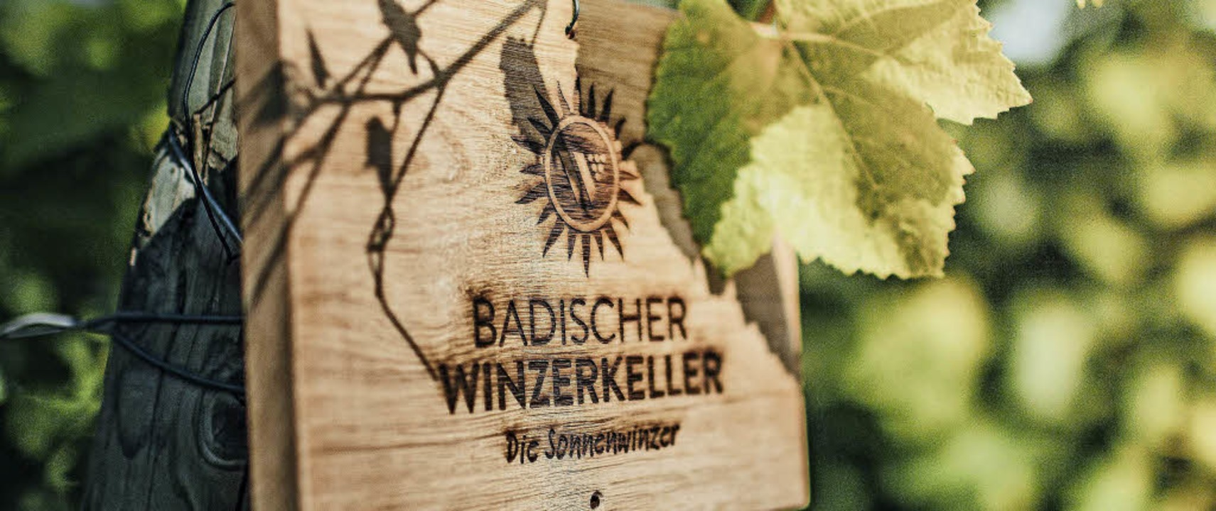 """Mit dem Slogan """"Die Sonnenwinzer...der Badische Winzerkeller in Breisach.    Foto: Privat"""