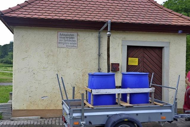 Neues System für Wasserzapfstelle
