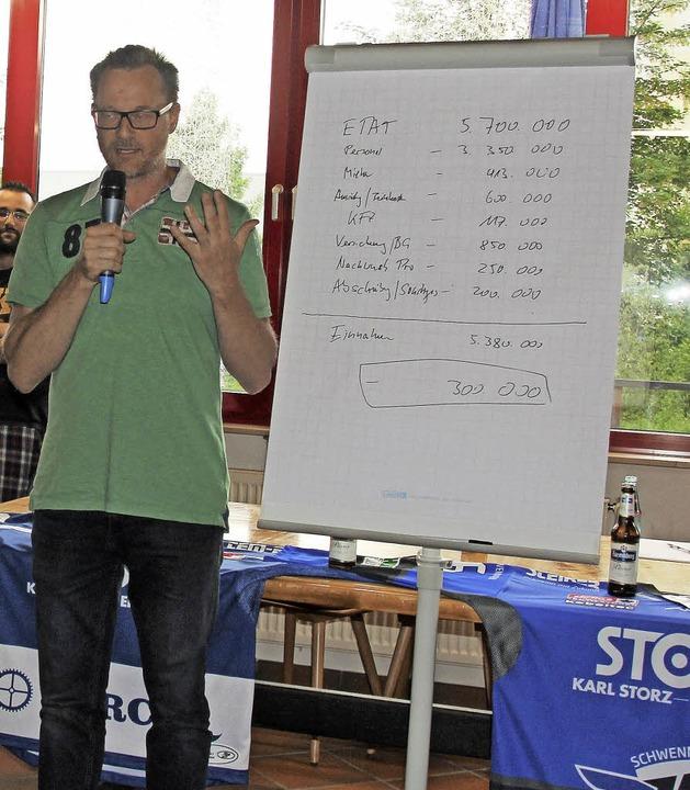 SERC-Geschäftsführer Michael Werner le...EL-Etat für die kommende Saison offen.  | Foto: wittmann