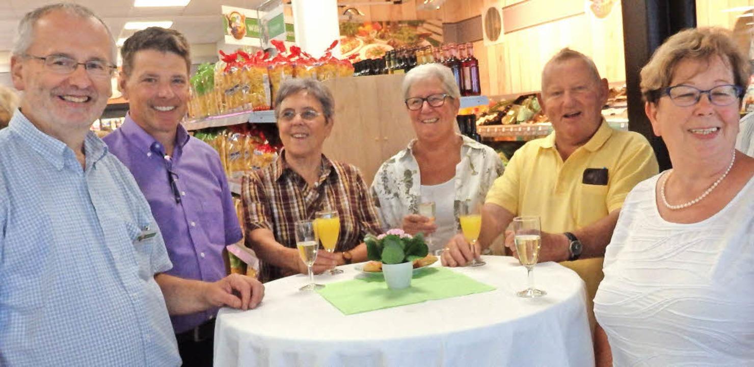 Freuen sich über die Eröffnung: Bernha... Rüsch, Edgar Pfost und Agnes Drechsle    Foto: Johanna Högg