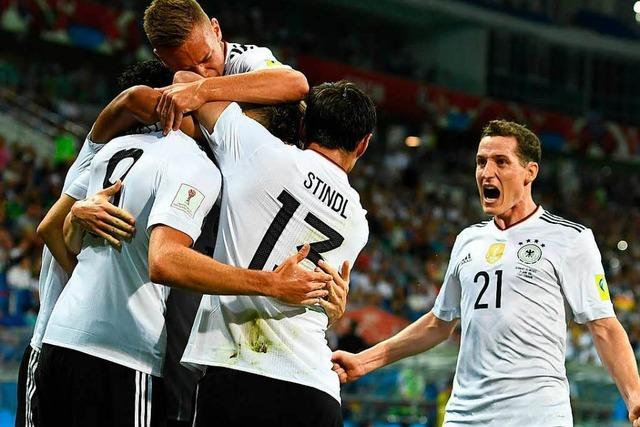 DFB-Elf stürmt ins Confed-Cup-Finale - 4:1 gegen Mexiko