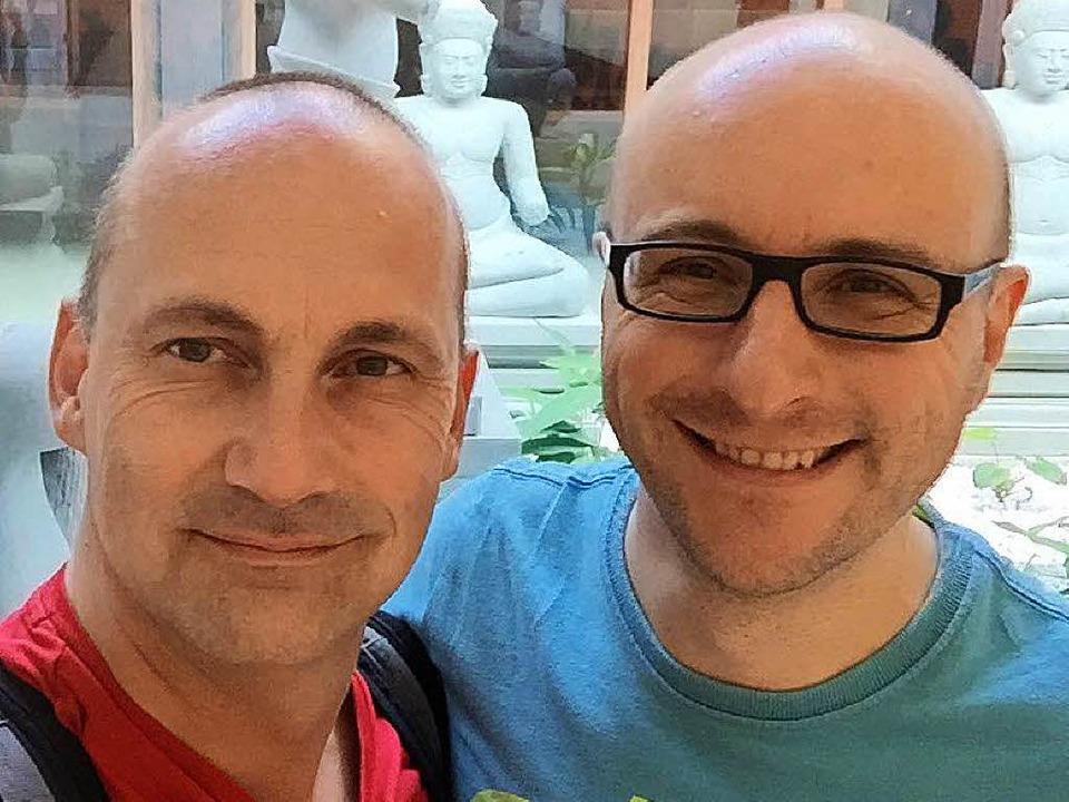 Stefan Lamb (links) und Stefan Jockers...Freiburg sind seit 18 Jahren ein Paar.  | Foto: Privat