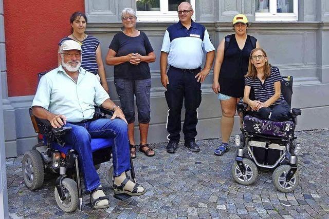 Hindernisse für Rollstühle