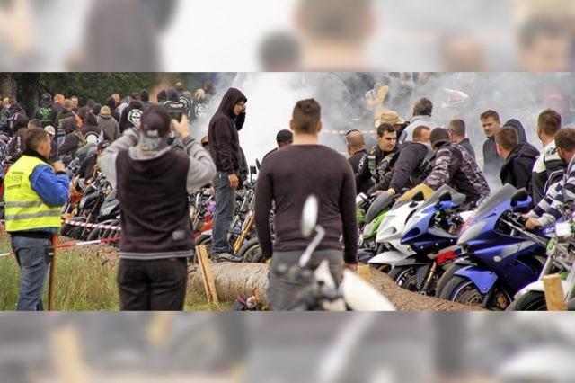 Selbst aus der Bretagne kamen die Biker