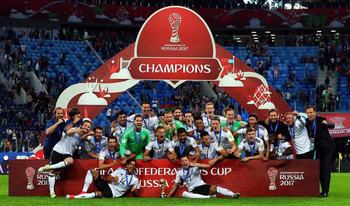 Deutschland bezwang Chile im Finale mit 1:0.    Foto: dpa