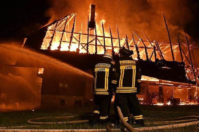 Landwirtschaftlich genutztes Gebäude komplett abgebrannt