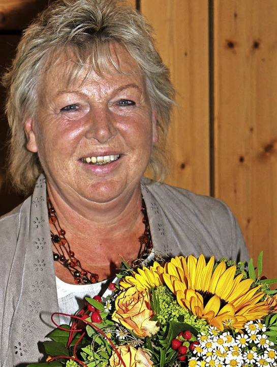 Isolde Müller ist seit 25 Jahren als  Schriftführerin tätig.  | Foto: Gert Brichta