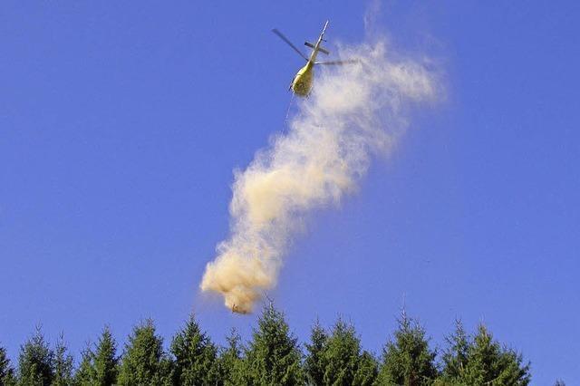 Bis Mitte August werden im Ortenaukreis insgesamt 916 Hektar Waldfläche gekalkt