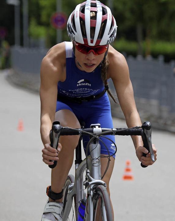 Schnellste mit Rad und zu Fuß: Katharina Möller, Landesmeisterin Jugend A  | Foto: Uwe Rogowski