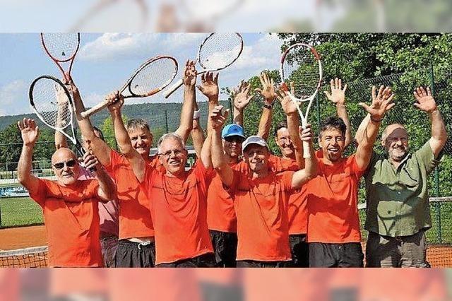 Tennis-Herren 50 mit fünf Siegen zur Meisterschaft