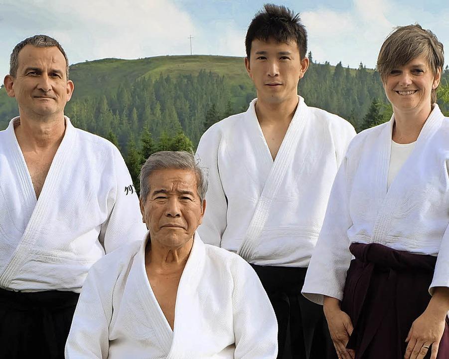 <BZ-FotoAnlauf>Aikido:</BZ-FotoAnlauf>...ei, Kenta Shimizu und  Sabine Kollmer   | Foto:  Verein