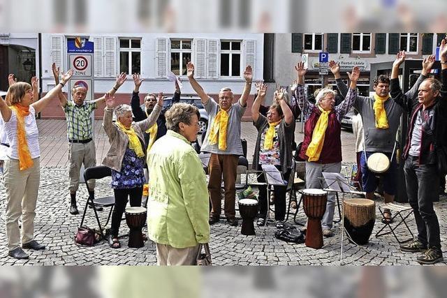 Trommler bereichern Schopfheimer Markt