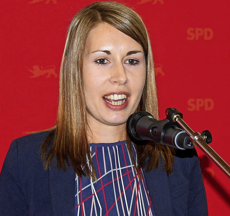 Generalsekretärin der Landes-SPD, Luisa Boos, beim Festvortrag  | Foto: Mario Schöneberg