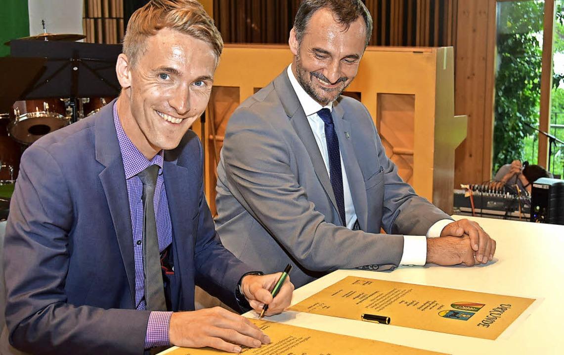 Der Gundelfinger Bürgermeister Raphael... Partnerschaft aufs Neue bekräftigen.     Foto: Andrea Steinhart