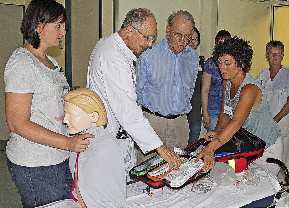 Reanimationspuppen, Defibrillatoren un...ein dem Kreiskrankenhaus Rheinfelden.   | Foto: Veranstalter