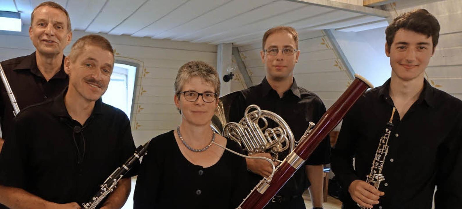 Harmonisches Ensemble: Das  Bläserquin...eisterten im Inzlinger Wasserschloss.   | Foto: Roswitha Frey
