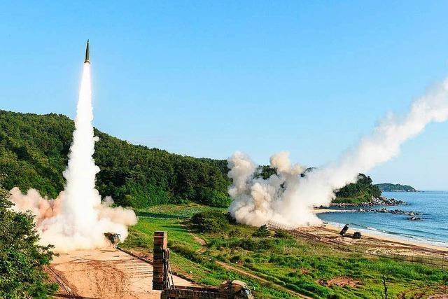 Nach Nordkoreas Raketentest lassen auch USA Muskeln spielen