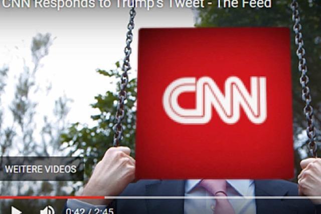 TV-Sender reagiert mit Humor auf Trumps Anti-CNN-Prügelvideo