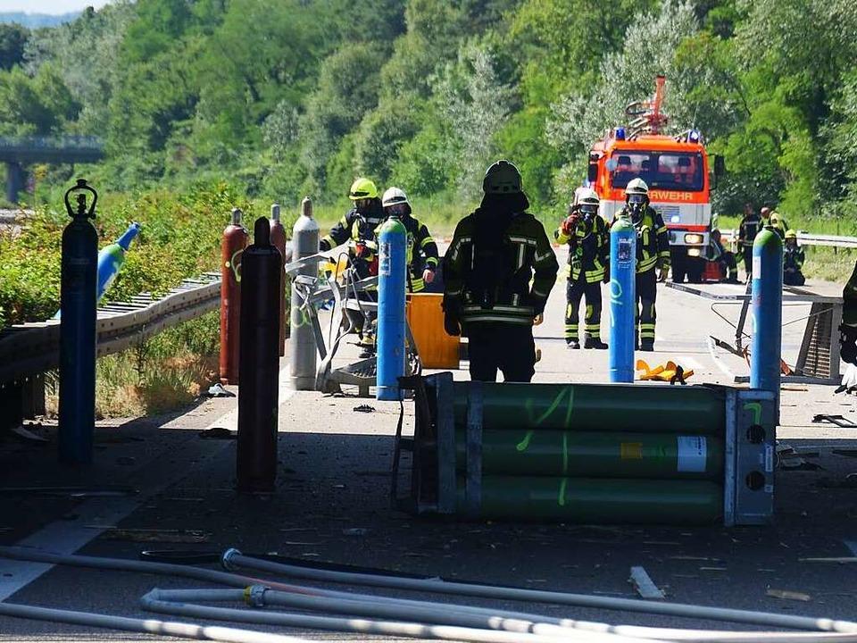 Die Unfallstelle beim Autobahndreieck Neuenburg  | Foto: kamera24.tv