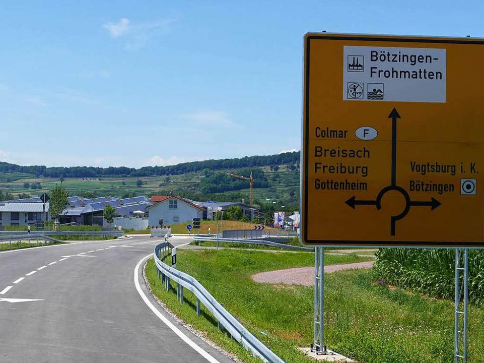 Die neue Ortsumfahrung bietet mit eine...erbindung ins Bötzinger Gewerbegebiet.    Foto: Manfred Frietsch