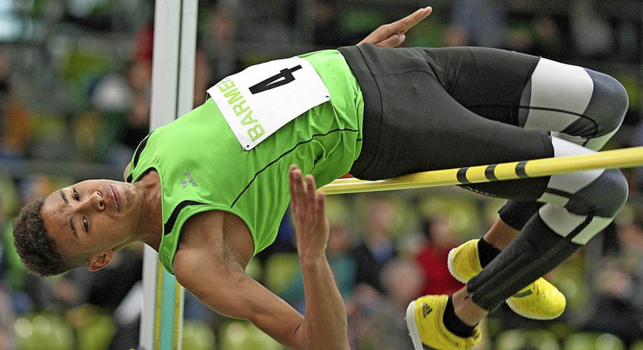 Übersprang in Tiengen 1,88 Meter und w...en: Jefferson Lambelet vom TV Grenzach    Foto: archiv: ralf görlitz