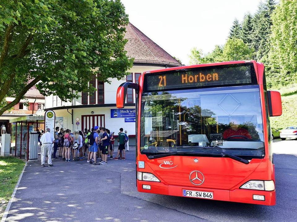 Noch fährt die Linie 21 nach Horben. Doch das kann sich bald ändern.  | Foto: Thomas Kunz