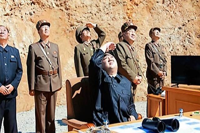 Nordkorea feiert seinen Raketentest, USA reagiert