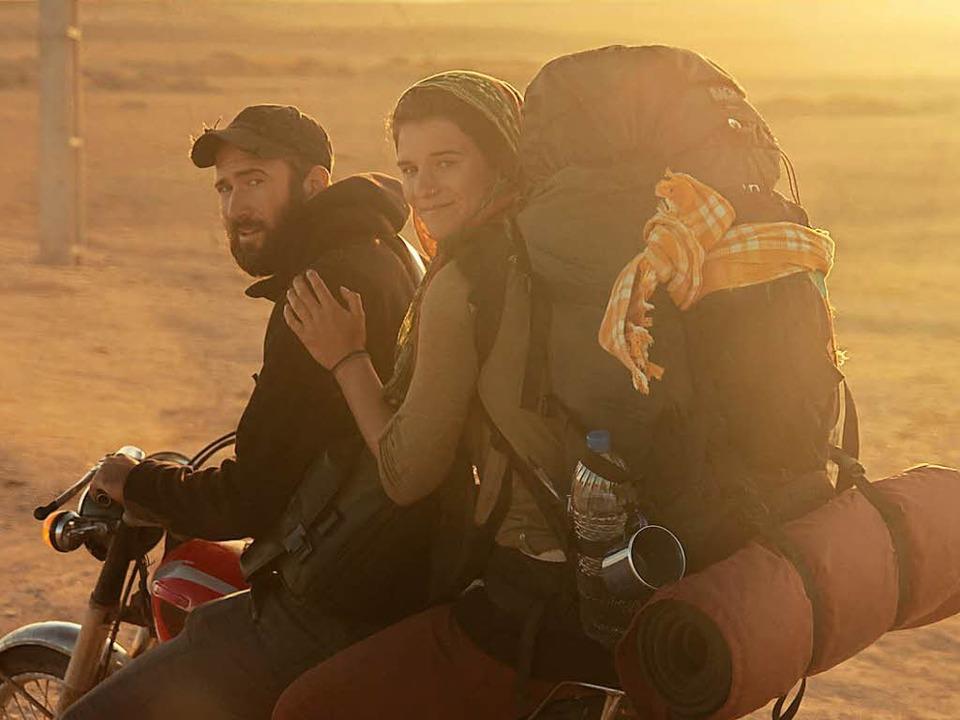 Die meisten Kilometer ihrer Weltreise ...der iranischen Wüste im Dezember 2013.  | Foto: Gwen Weisser