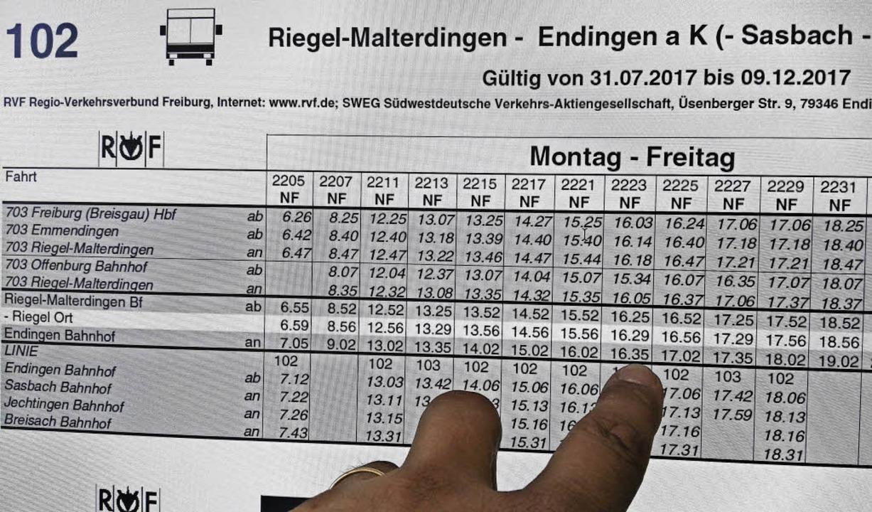 Der Fahrplan für den Schienenersatzver...Juli ist im Internet bereits abrufbar.  | Foto: Martin Wendel