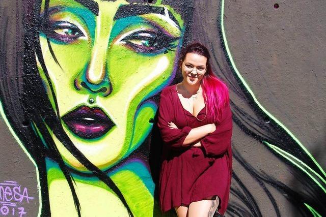 Emesa Amze ist eine der wenigen Frauen in der Sprayerszene